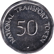 50 Pence - National Transport Token (Conwy Castle) -  revers