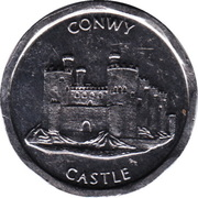 50 Pence - National Transport Token (Conwy Castle) -  avers