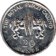 20 Cents - The Royal Swazi Casino – avers