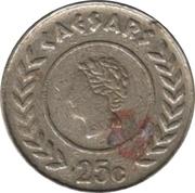 Caesars gauten 25 Cent Token – avers