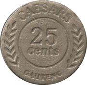 Caesars gauten 25 Cent Token – revers