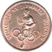 Jeton Jeux olympiques Munich 1972 – revers