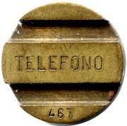 Jeton de téléphone - ENTel (numéro) – avers