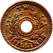Two Shillings (Hay Internment Camp Token) – revers