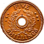 5 Shillings (Hay Internment Camp Token) – revers