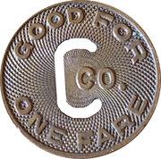 1 Fare (The Connecticut Company) – revers