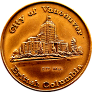 Vancouver City Hall Token – avers