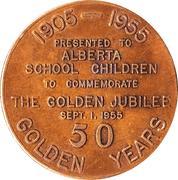 Jubilé d'or de l'Alberta 1955 – avers