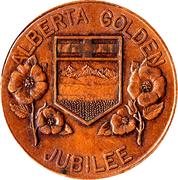 Jubilé d'or de l'Alberta 1955 – revers