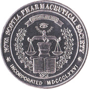 Nova Scotia Pharmaceutical Society - Centennial Medallion – avers