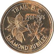 Trail, British Columbia - Diamond Jubilee Medallion – revers