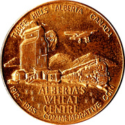 Three Hills, Alberta - Commemorative Coin – revers