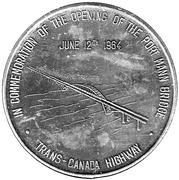 Commemorative Medal Opening of The Port Mann Bridge – avers
