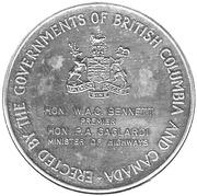 Commemorative Medal Opening of The Port Mann Bridge – revers