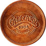 Calgary, Alberta - Centennial Medallion – revers