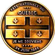 1986 24 June Quebec National Day - Nancy Huard Medals – avers