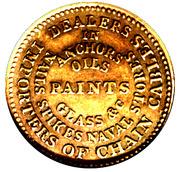 1836 Squire & Merritt - Ship Chandlers Hard Times Merchant Token - 175 Counterstamped beneath MAKERS. – revers
