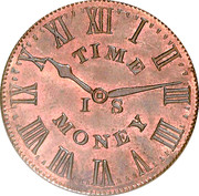 Hard Times Merchant Token - Smith's Clock - New Yory , NY – avers