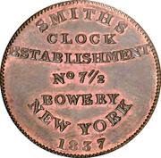 Hard Times Merchant Token - Smith's Clock - New Yory , NY – revers