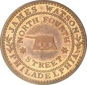 Hard Times Merchant Token - James Watson Hardware - Philadelphia PA – avers