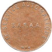 Jeton S.A.F.A.A. Le Service Automatique – avers