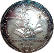 Jeton Agents de change de Lyon (1816) – revers