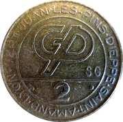 Jeton de casino - 2 francs (GP) – avers