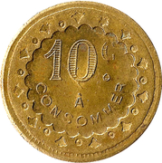 10 centimes à consommer - B&G – revers
