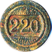 20 centimes - 220 - A consommer – avers