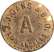 J.J. Gans & Bro. (Los Angeles, Ca.) – avers