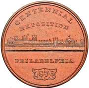 Dollar - U.S. Centennial Exposition - Building – avers