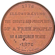 Dollar - U.S. Centennial Exposition - Building – revers