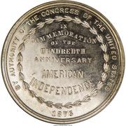 Dollar - US Centennial Exposition - Official Medal – revers