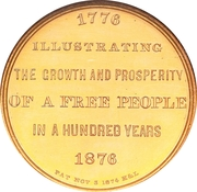 Dollar - U.S. Centennial Exposition Art Gallery Building – revers