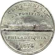 Dollar - U.S. Centennial Exposition Building – avers