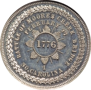 Dollar - George Hampden Lovett = Battle of Moore's Creek Bridge – revers