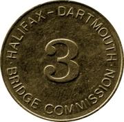 Toll Token - Halifax Dartmouth Bridge Commission (Class 3 Vehicle) – avers