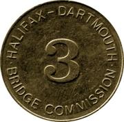 Toll Token - Halifax Dartmouth Bridge Commission (Class 3 Vehicle) – revers