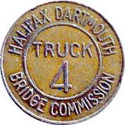 Jeton de péage - Halifax Dartmouth Bridge Commission (Truck 4) – avers