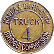 Jeton de péage - Halifax Dartmouth Bridge Commission (Truck 4) – revers