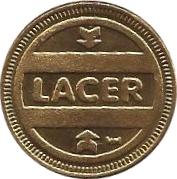LACER-Ficha de pool,metegol-Argentina – avers
