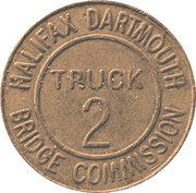Jeton de péage - Halifax Dartmouth Bridge Commission (Truck 2) – avers
