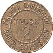 Jeton de péage - Halifax Dartmouth Bridge Commission (Truck 2) – revers