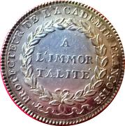 Louis XVI, Académie Françoise – revers