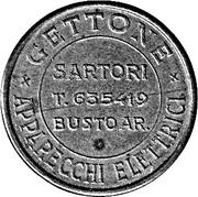 Jukebox Token - Gettone Apparecchi Elettrici (Sartori, Busto Ar.) – avers