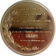 Primer Grado Otorgado a Sagarpa – avers