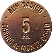 5 Francs - Sun Casino – avers