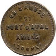 (Maison close) - 27 port d'aval Amiens (80) – avers