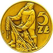 5 Zlotych / 10th Anniversary Polish coins catalog – avers