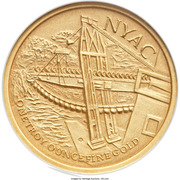 Medal - Sourdough Mine Centennial - Nyac, Alaska – revers